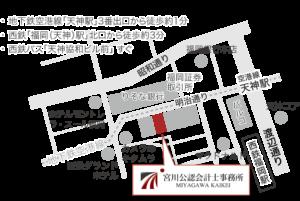 福岡市天神の地図